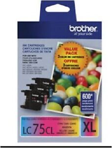 Brother LC75CL Colour Ink Cartridges, High Yield, Combo Pack