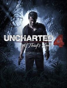 Uncharted 4 disc. With no box