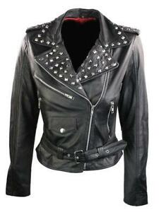Studded Leathe Biker Jacket