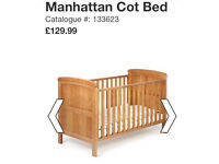 Manhattan cot bed used