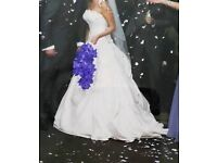 Wedding dress, Justin Alexander, size 10. Worn once, used but immacculate.
