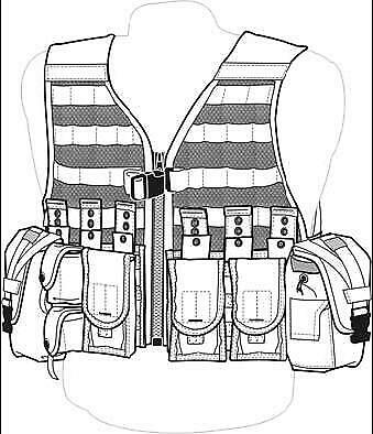 US MILITARY ACU Rifleman set - Fighting Load Carrier FLC Vest + 9 POUCHES
