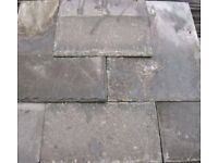 Welsh Roof Slates (Used) Various: 16 x 12(30); 6 x 10(65); 14 x 10(264); 13 x 10(300); 14 X 7(600)