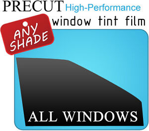 Black PreCut Window Tint Film - Any Shade % for Honda Accord 4dr Sedan 90-93