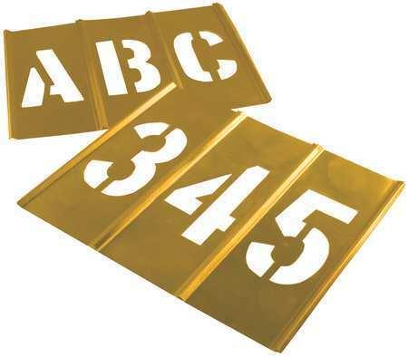 C.H. Hanson 10149 Stencil Set,Letters & Numbers,Brass
