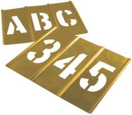 C.H. Hanson 10156 Stencil Set,Letters & Numbers,Brass