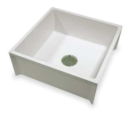 Mustee 63M 24 In W X 24 In L X 10 In H, Fiberglass, Mop Sink