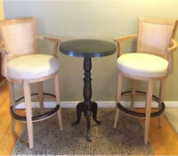 Bar Height Swivel Stools with Table