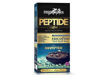 Peptide coffee are produced by using 100% of premium selected Hacofino Dark Roast Bean
