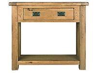 Oak Console Table From Harveys Toulouse Range