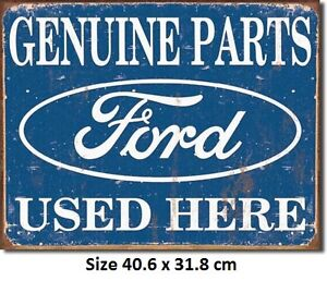 Genuine Ford Parts Rustic  Metal Tin Sign 1422  Large Variety - Post Discounts
