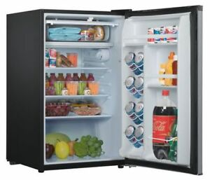 Whirlpool 4.3 CU FT Compact Refrigerator, Stainless Steel