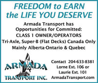 OWNER OPERATORS WITH FLAT DECK WANTED