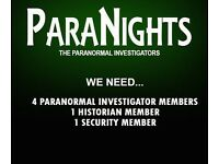 Paranormal Investigators Wanted
