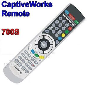 CAPTIVEWORKS 700S DISH FTA TV CW700 SATELLITE REMOTE