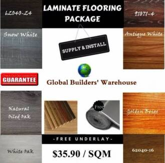 Laminate Flooring - Package Deal - Supply & Install $35.90psqm