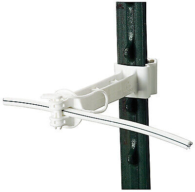 Electric Fence T-post Offset Insulator White 5-in. 20-pk.