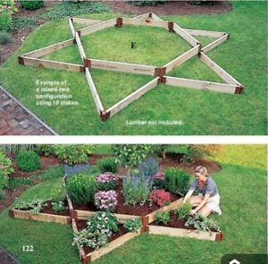 Garden Bed Corners for Instant Raised Beds, from Lee Valley