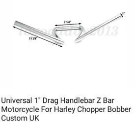 Motorcycle cruiser handle bars