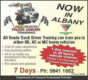 Wanted - HR, HC AND MC Truck Licences Albany Albany Albany Area Preview