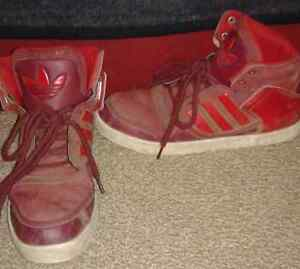 Adidas AR red high tops shoes 9.5