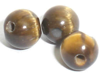 Tigerauge. Perlen. Kugel. 8mm. Strang 39cm