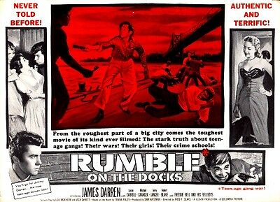 Rumble On The Docks Pressbook James Darren  Laurie Carroll      Plus Poster