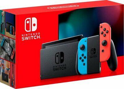 Nintendo Switch 32GB Console Neon Blue Red Joy Con V2 version - SAME DAY SHIP