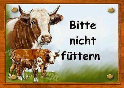 Kuh  Kalb und Bulle  /  Schild  / Bild  / B2