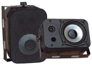 PYLE PDWR40B 5.25 Indoor/Outdoor Waterproof Speakers - Black Colour