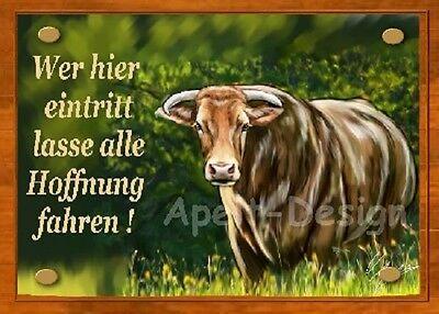 Kuh  / Stiuer / Bulle  /  Schild  / Bild  / B4