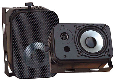 "Pyle Home Audio PDWR40B New 5.25"" Indoor Outdoor Waterproof Speakers Black"