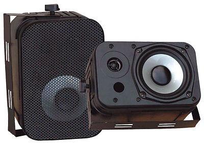 """Pyle Home Audio PDWR40B New 5.25"""" Indoor Outdoor Waterproof Speakers Black"""