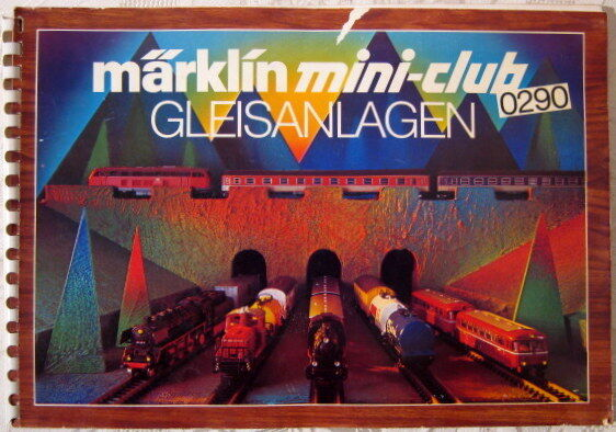 Gleisplan Gleispläne Gleisplanheft MÄRKLIN Z Mini-Club 0290 Gleisanlagen