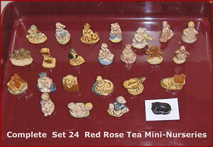 Complete Set 24 Figures Wade Porcelain Nursery Rhyme Figurines