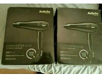 New, BabyLiss hair dryers 15 each