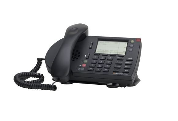 Lot Of (5) Shoretel 230g Ip Telephone (black) Fully Refurbished