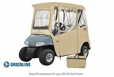 EZGO Premium Drivable 2 Person Golf Cart Enclosure Cover Color: TAN
