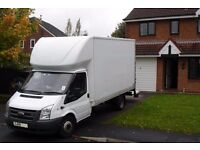SHORT NOTICE RELIABLE BIG LUTON VAN WITH TAIL LIFT BIKE RECOVERY NATIONWIDE MOVERS MAN AND VAN HIRE