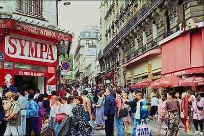 673071 Shopping Street Paris France A4 Photo Print
