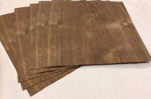 Walnut Wood Veneer, Raw/Unbacked - Pack of 6 - 9