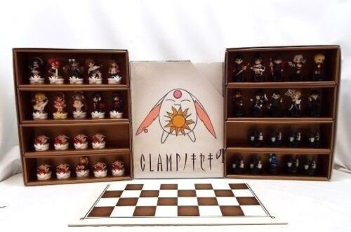 Clamp no Kiseki Figure Chess Pieces Set 38 Complete w/Box Board Official Japan