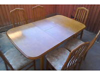 Pine Dining Table & Six Chairs - *Free Delivery