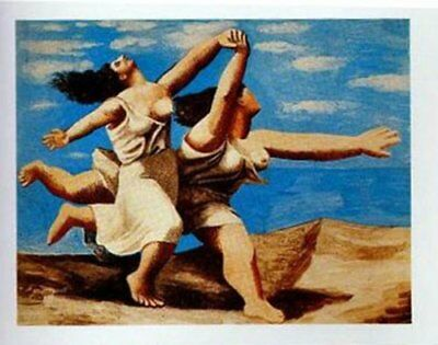 Two Women Running/Beach by Pablo Picasso 32x24 Museum Art Print Poster