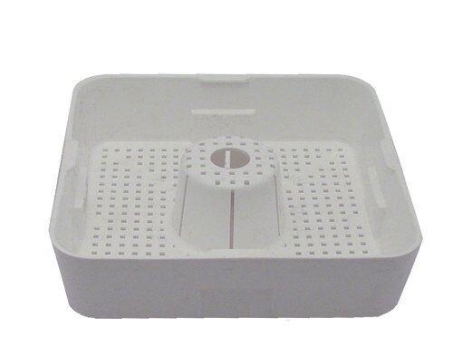 "STRAINER BASKET Domed Square Floor Drain 8 1/2"" Plastic Commercial 11462"