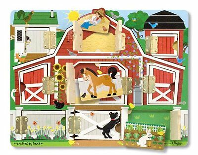 Melissa and Doug Magnetic Farm Hide and Seek , New, Free Shipping
