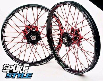 Spoke Style Speichen Cover Überzug MX Motocross Rot Honda CRF CR 125 250 450