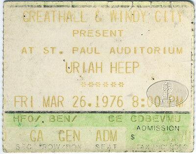 URIAH HEEP 1976 Concert Ticket Stub St. Paul