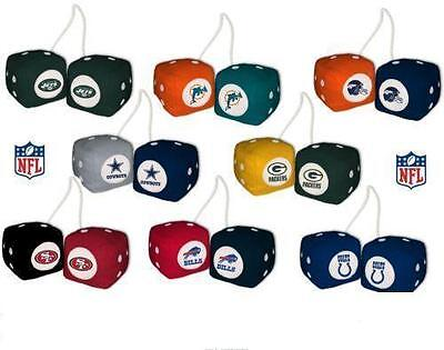 NFL FUZZY DICE  HANG IN CAR/TRUCK MOST NFL TEAMS ON SALE Fuzzy Dice Auto Sales