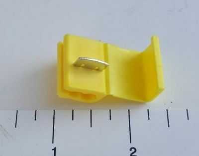 100 Pcs. Yellow Quick Splice Tap Wire Terminal Connector 12-10 Gauge